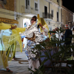 Street performance Via Roma Lampedusa